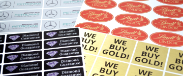 Metallic Stickers | www.stickersinternational.co.uk